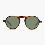 round retro sunglass with polarized lens