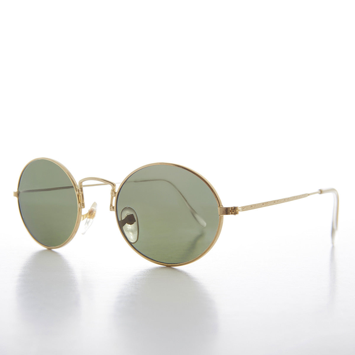gold oval metal sunglass