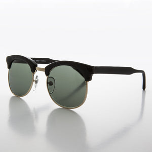 half rim horn rim vintage sunglass with glass lens