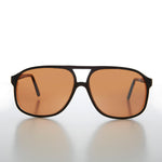 Large Square Plastic Aviator with Copper Driving Lens