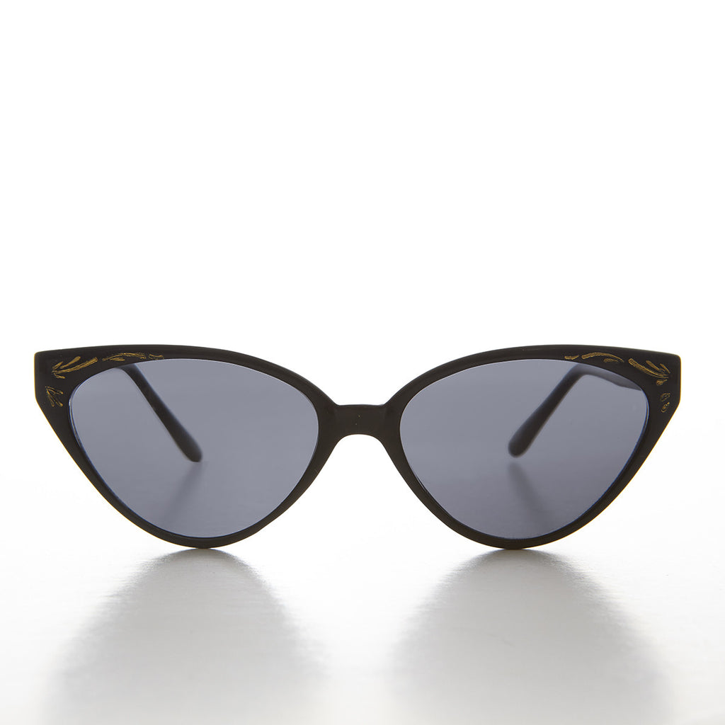 9f7af96029857 deco cat eye sunglass with gold embossing
