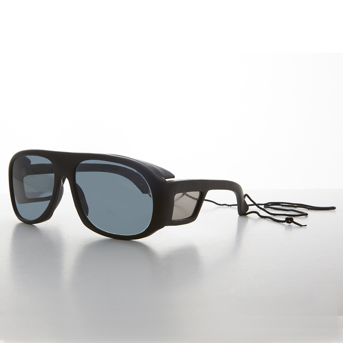 polarized fishing sunglasses with glass lens and side shields