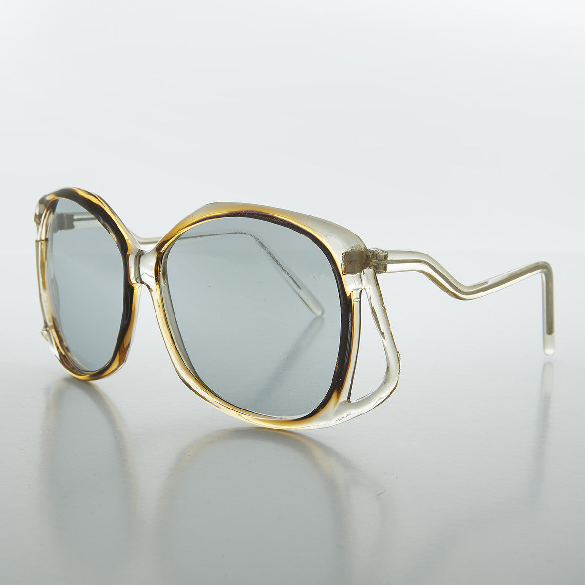 clear frame oversized women's transition lens butterfly vintage sunglass