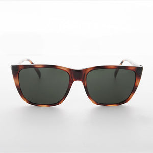 classic rectangle tortoiseshell frame vintage sunglass with glass lens