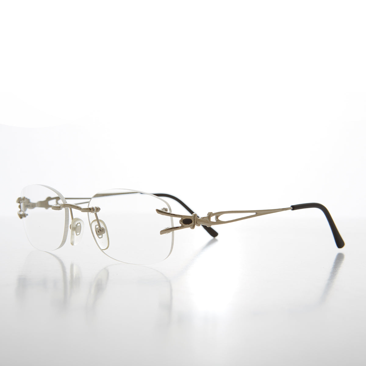 Rimless Readers with Metal Temples