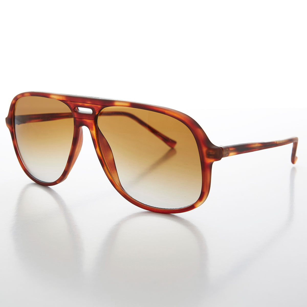 Square Vintage 80s Classic Aviator with Gradient Lens