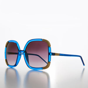 Colorful Oversize Square Vintage Women's Vintage Sunglass