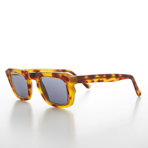Unique Rectangular Vintage Sunglass with Gold Lens Inlay