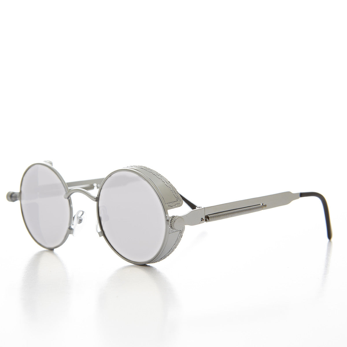 goggle side shield steampunk sunglass with mirror lens