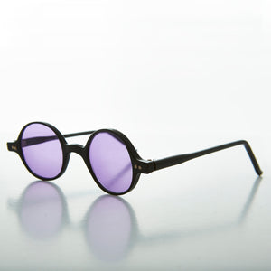 Small Round Spectacle Sunglass with Color Tinted Lens