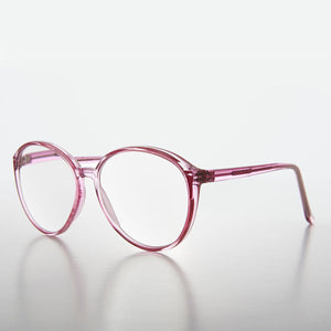 Round Oversized Clear Women's Clear Lens Glasses
