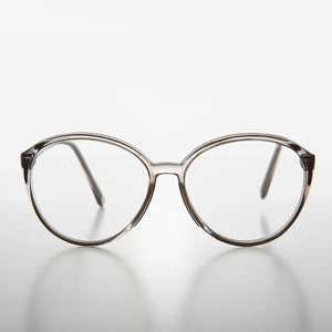 Round Oversized Clear Women's Retro Reading Glasses
