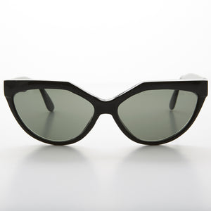 Geometric Black Cat Eye Vintage Sunglass