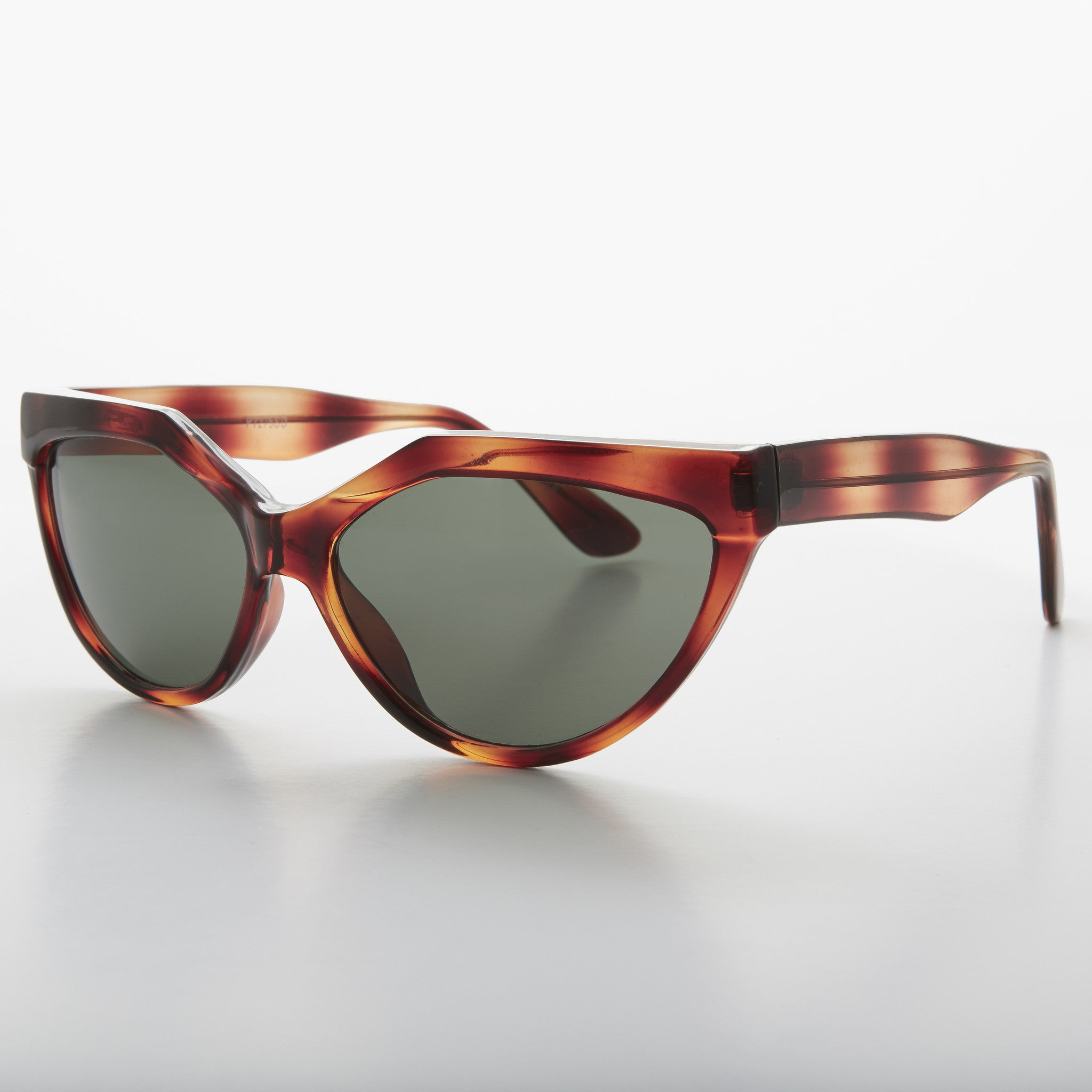Geometric Brown Cat Eye Vintage Sunglass