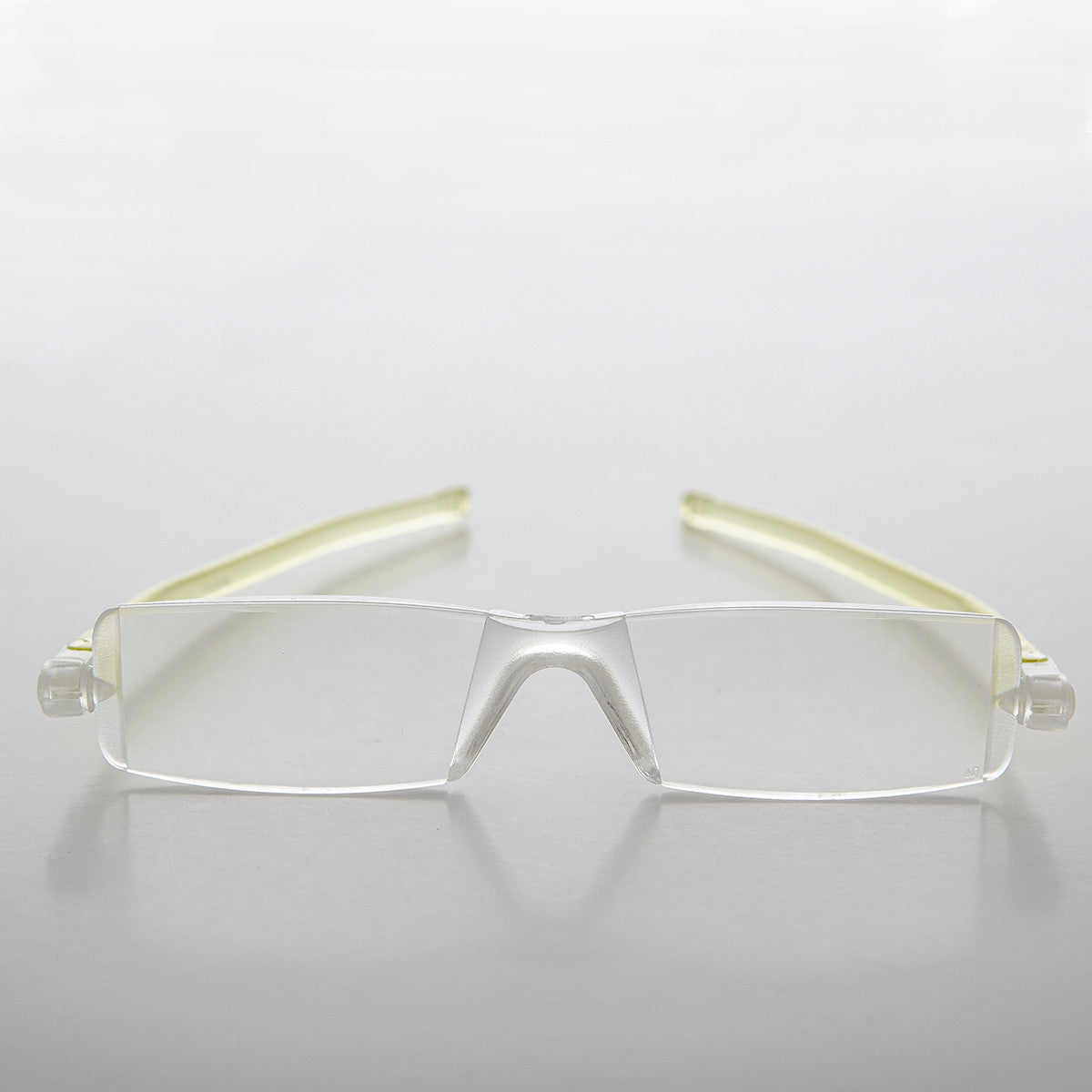 yellow folding reading glasses