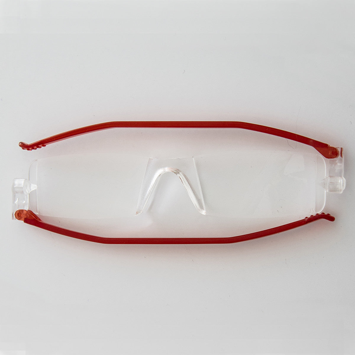 red folding reading glasses