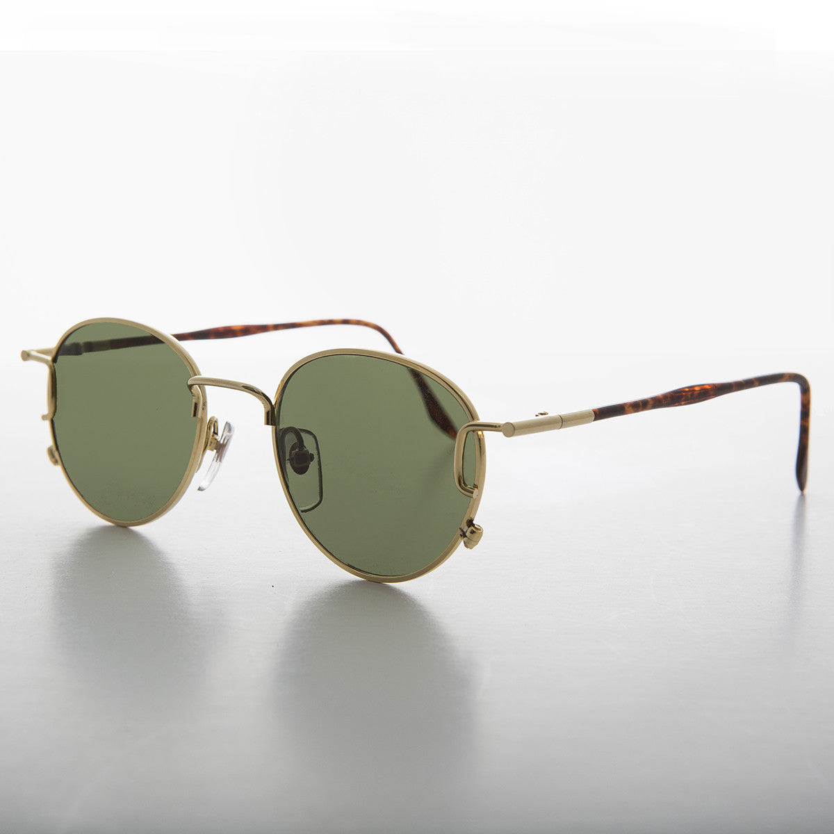round gold metal detailed vintage sunglass