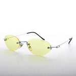Load image into Gallery viewer, 90s Vintage Rimless Oval Colored Lens Sunglass