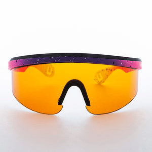 Sports Wrap Killer Loop Vintage Sunglass with Amber Blue Blocker Lens