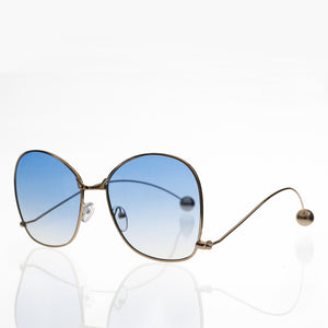 blue lens oversized women's sunglass