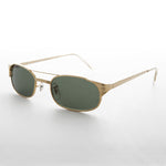 Load image into Gallery viewer, gold metal police 90s vintage sunglasses