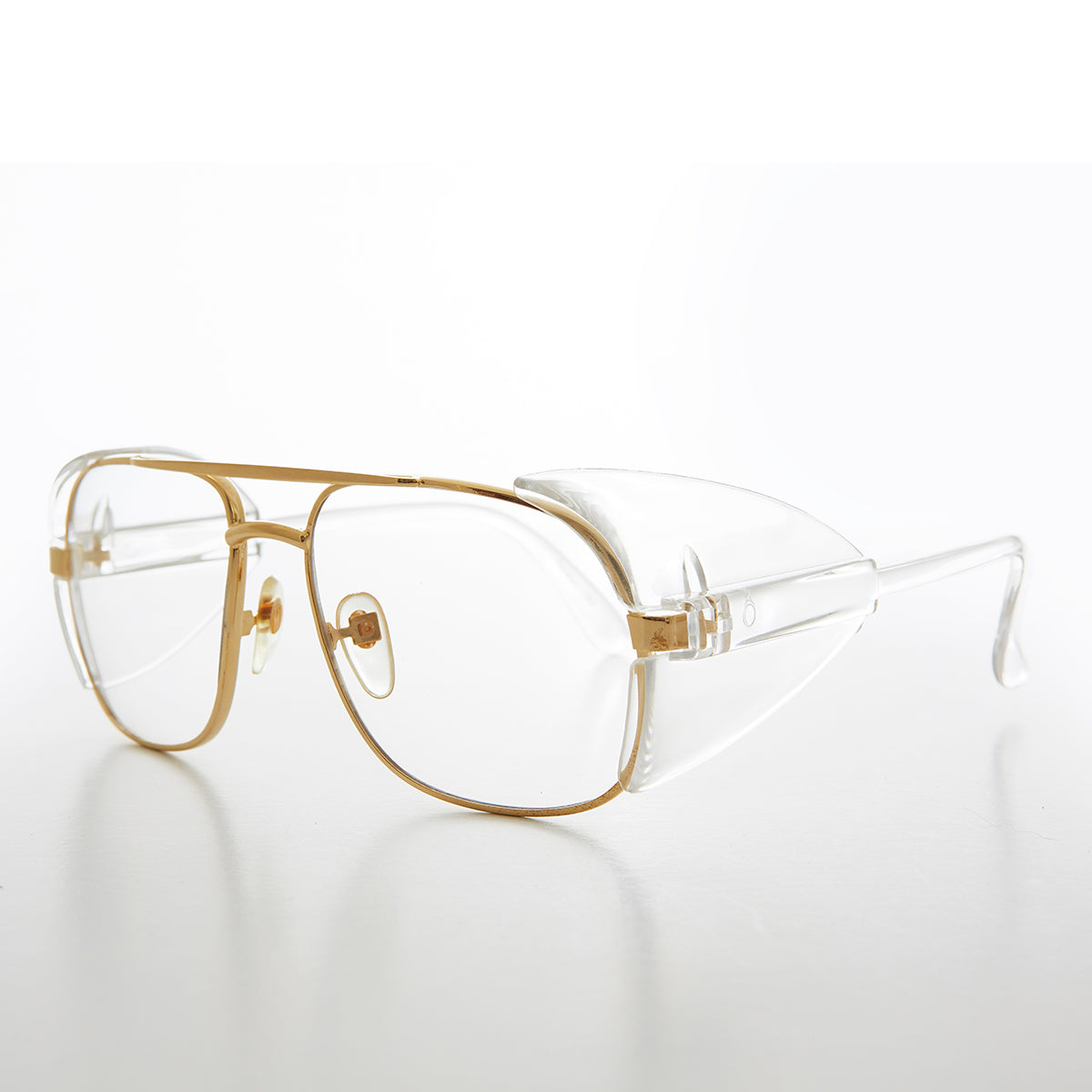 Square Safety Eyeglasses with Side Shields