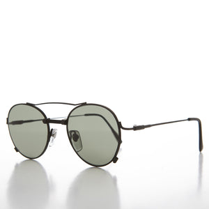 Unique Round Aviator with Industrial Accents - Ray