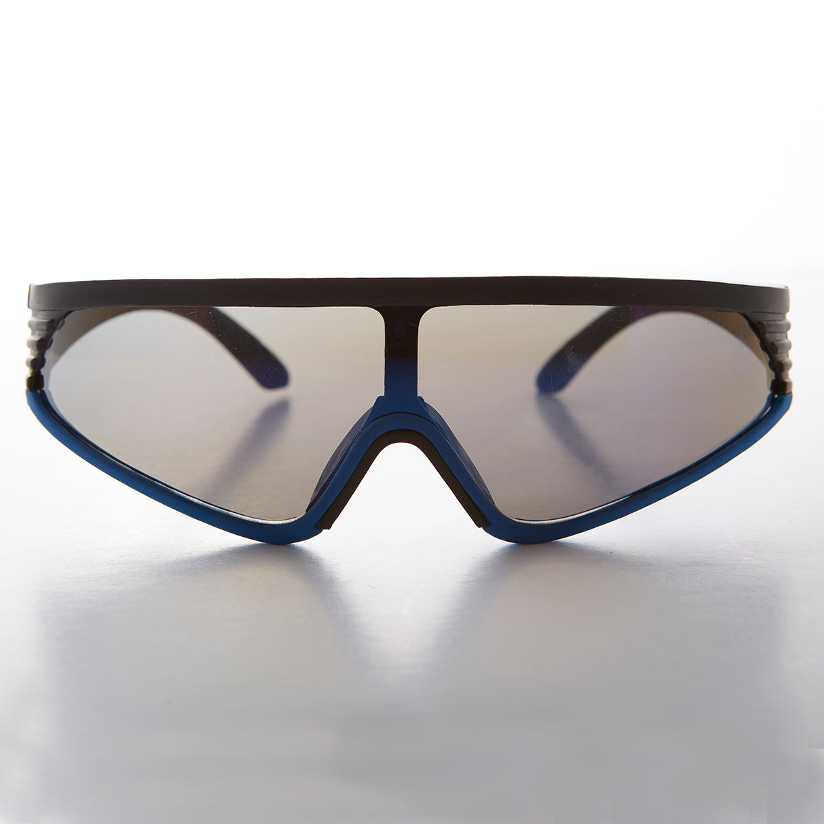 sports wrap vintage sunglass with mirror lens