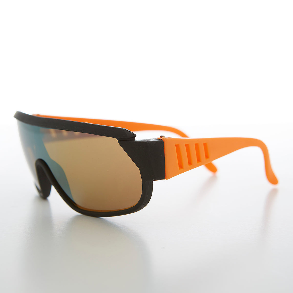 80s Neon Sports Shield Vintage Sunglass