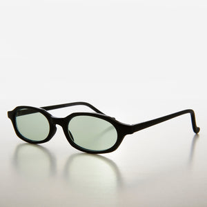 Slim Hippie Green Tinted Lens 90s Vintage Sunglass