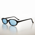 Load image into Gallery viewer, Slim Hippie Blue Tinted Lens 90s Vintage Sunglass
