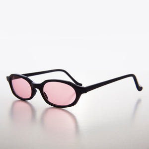 Slim Hippie Pink Tinted Lens 90s Vintage Sunglass