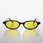 Load image into Gallery viewer, Slim Hippie Yellow Tinted Lens 90s Vintage Sunglass