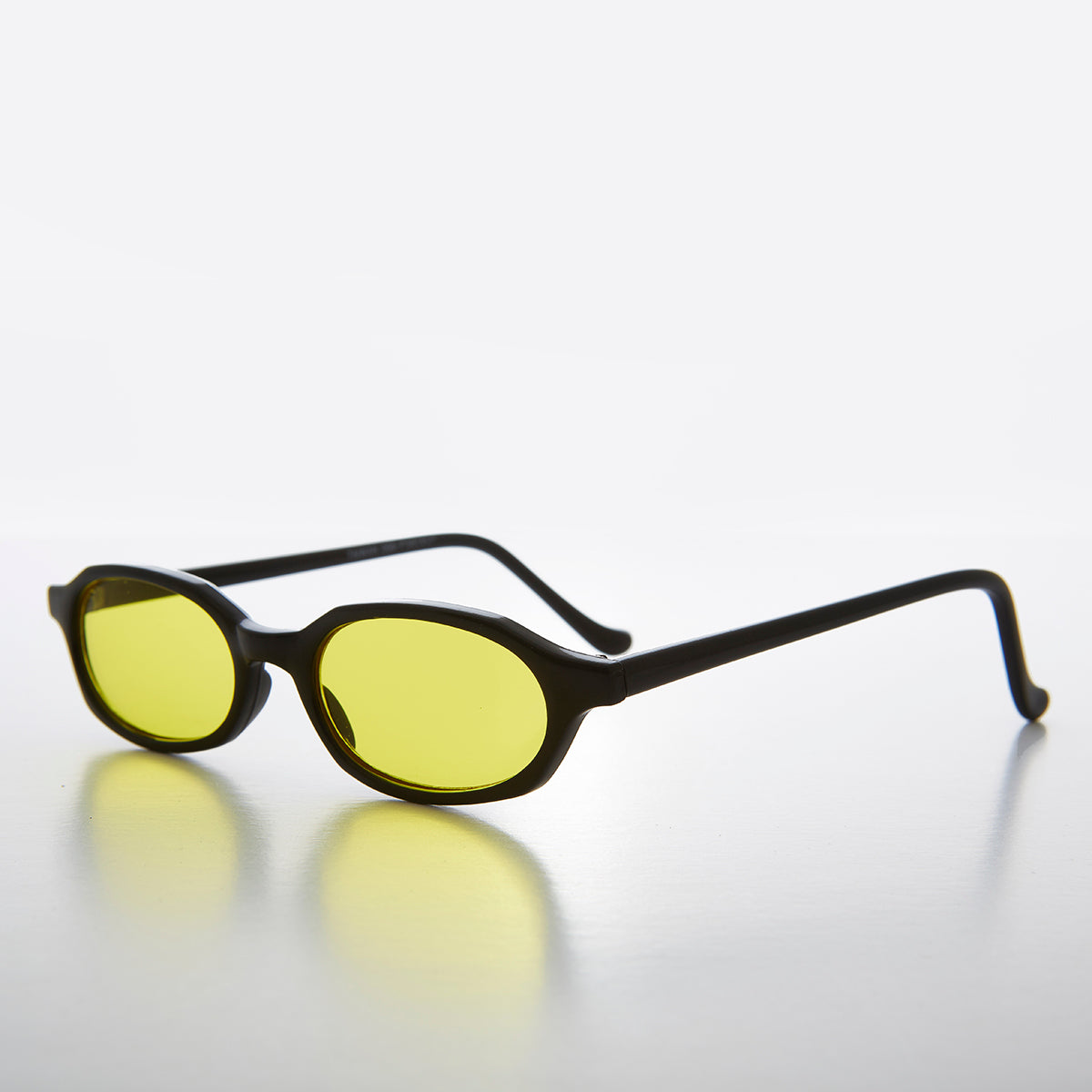 Slim Hippie Yellow Tinted Lens 90s Vintage Sunglass