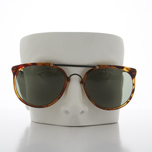 round steampunk aviator sunglass with crossbar