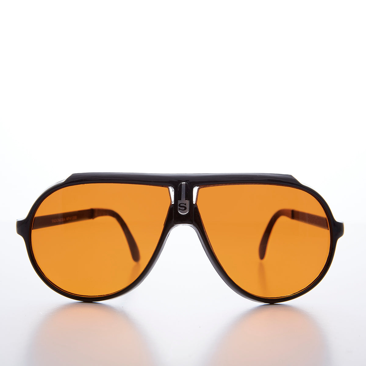 2105aebba6 Very 80s Aviator Orange Blue Blocker Lens Vintage Sunglass - Rocky ...