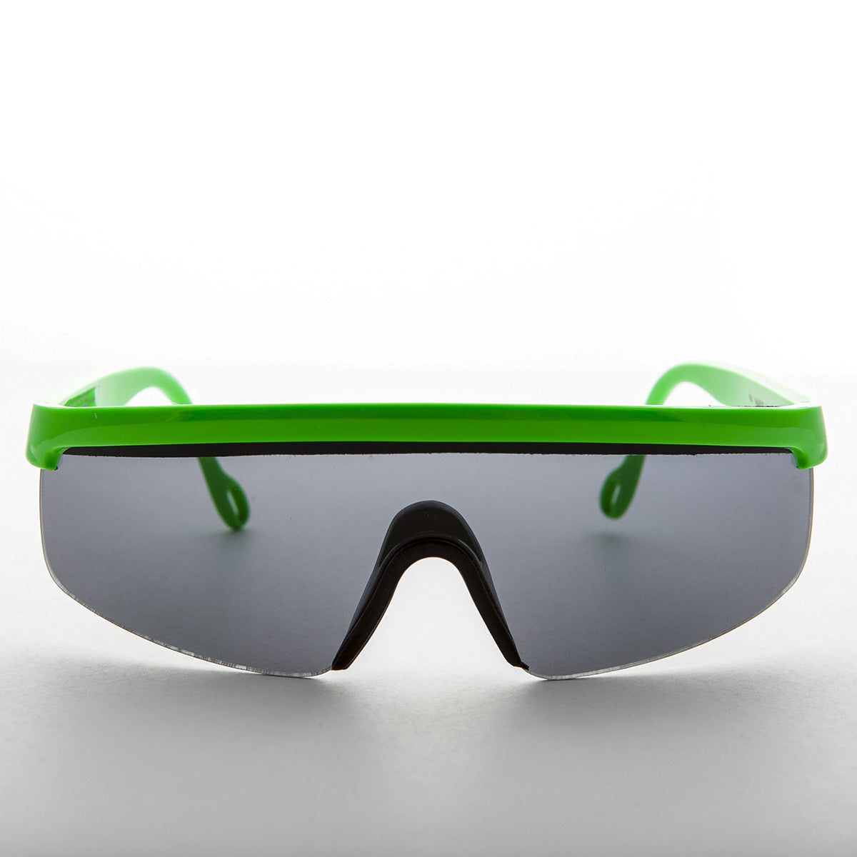 green sports wrap 80s vintage sunglass