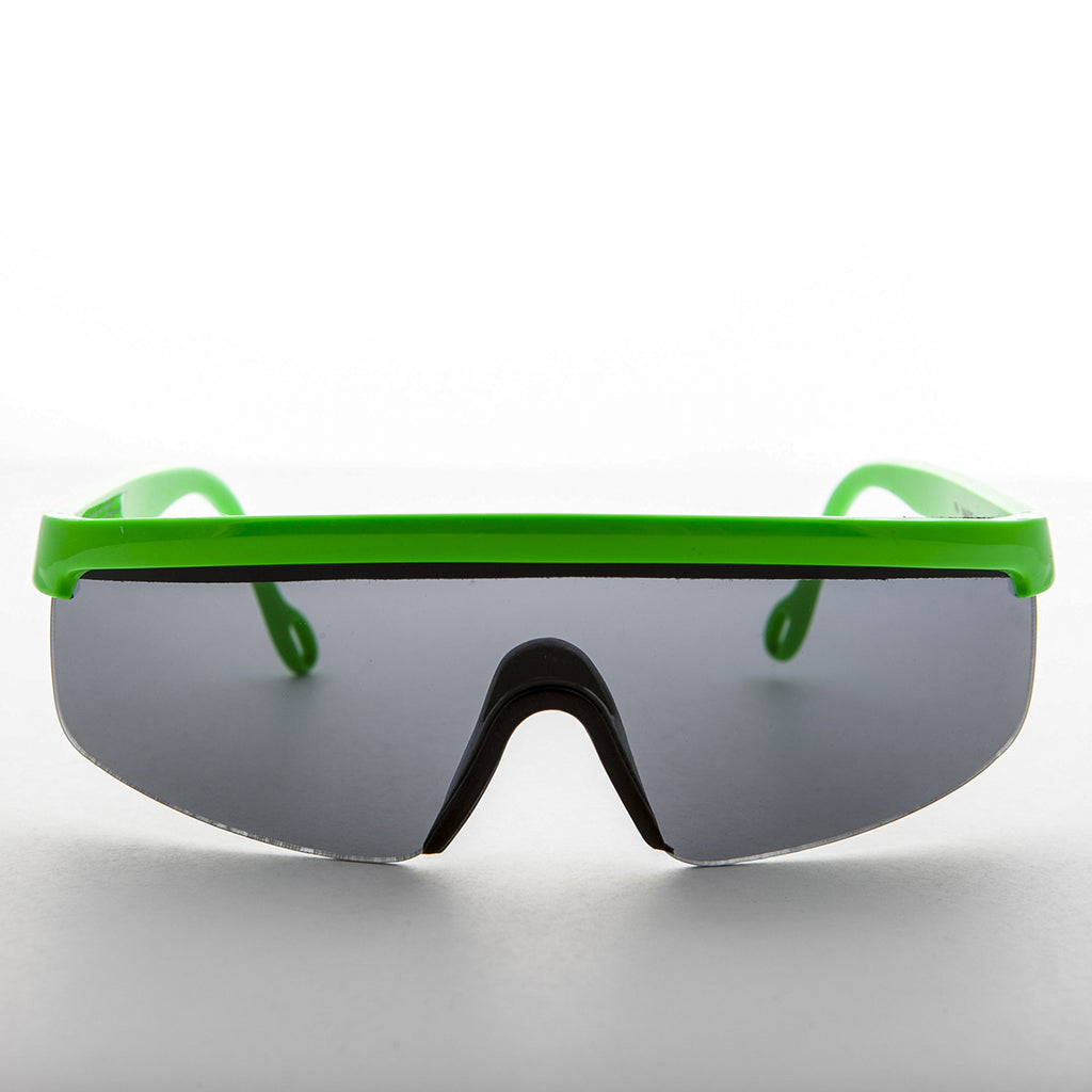 49b27970a6 green sports wrap 80s vintage sunglass · Sport Shield Vintage Sunglass Made  in France 1980s ...