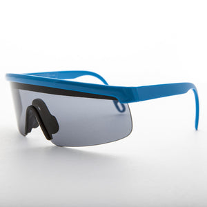 blue sports wrap 80s vintage sunglass