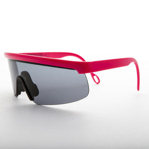 pink sports wrap 80s vintage sunglass