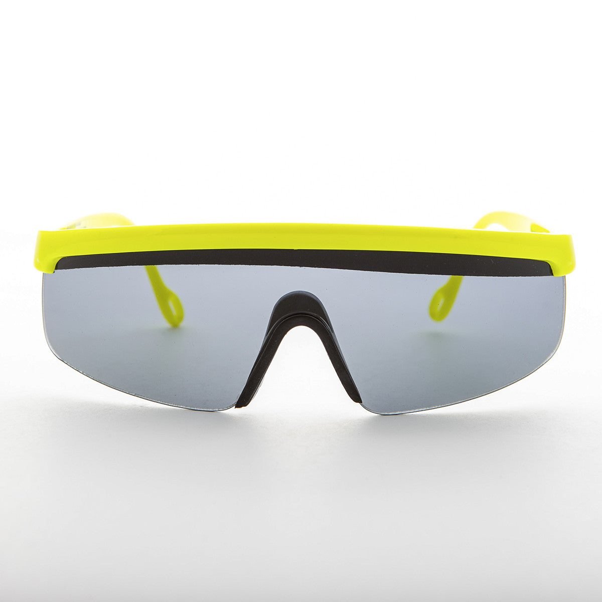 yellow sports wrap 80s vintage sunglass