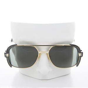 Gold Safety Sunglasses Goggles with Tinted Side Shields - Romeo