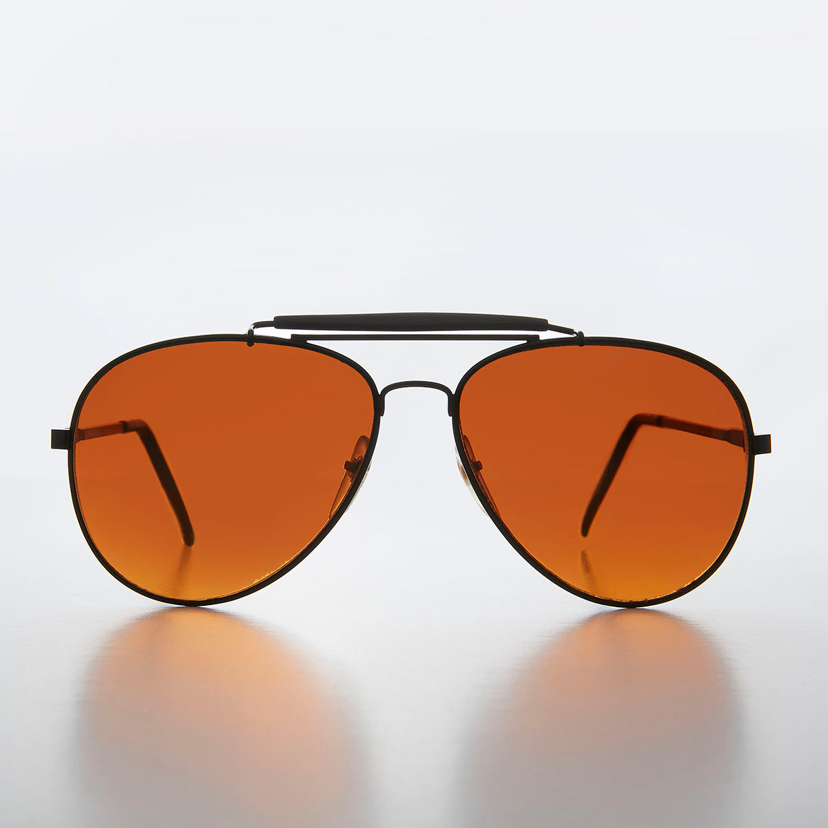 Classic Metal Aviator with Amber Lens