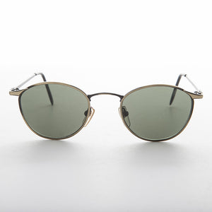 metal round horn rim classic vintage sunglass