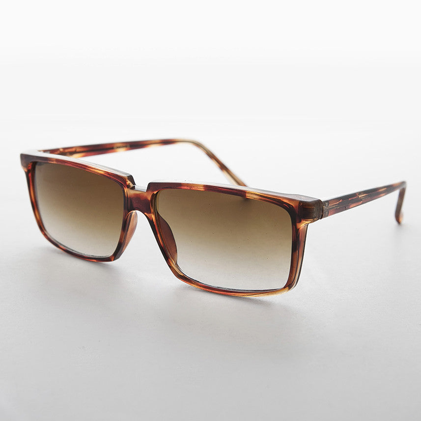 roy orbison brown  rectangular classic vintage sunglass