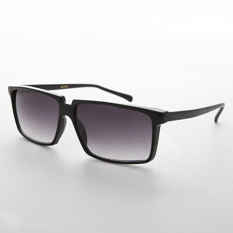 roy orbison black rectangular classic vintage sunglass