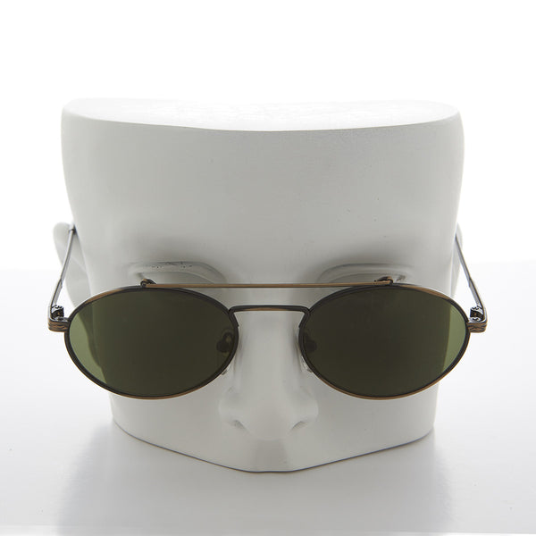 Elegant Metal Aviator Sunglass with Oval Lens - Russ