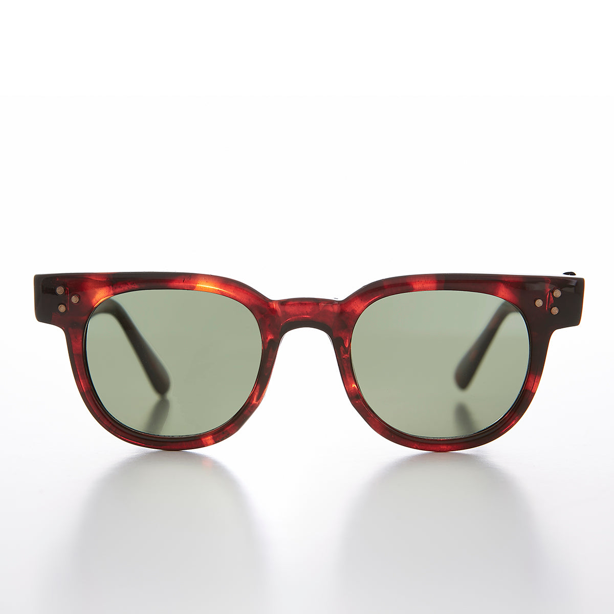 Classic 50s Retro Vintage Sunglass with Stud Accent