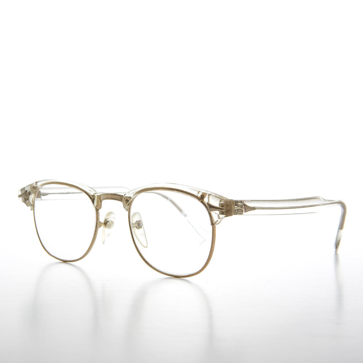 ceb8eb8642 Clear Frame Hipster Clear Lens Vintage Glasses - Sanders – Sunglass ...