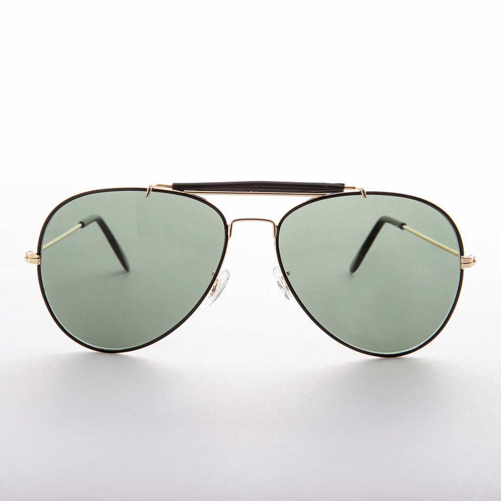 Top Gun Aviator Sunglasses with Brow Bar